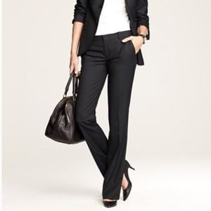 J. Crew Black City Fit In Super 120s Wool Trousers